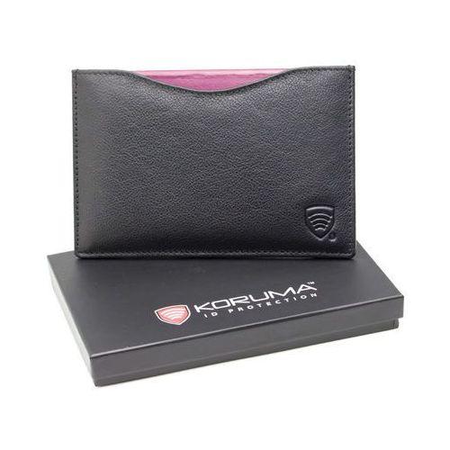 Koruma® ✅ bezpieczne skórzane etui okładka na paszport biometryczny czarny rfid