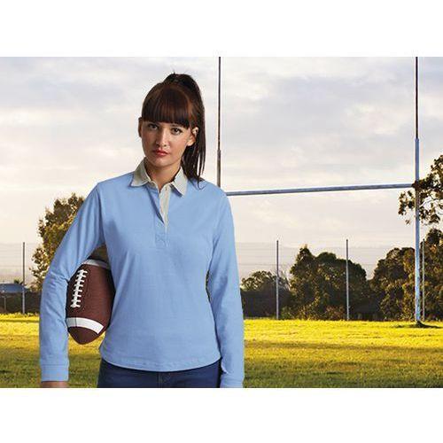 BLUZKA POLO damska długi rękaw Avant L blekitny, kolor niebieski