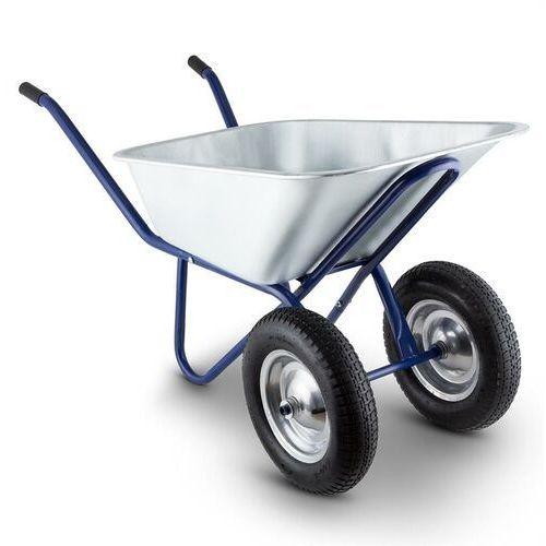 Waldbeck Heavyload Taczka 120 l 320 kg Taczka ogrodowa 2-kołowa stalowa niebieska (4260457487700)