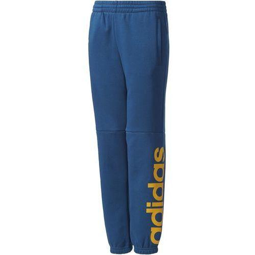 Adidas spodnie dziecięce yb linear pant blue night/tactile yellow 176 (4058031991664)