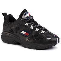 Tommy jeans Sneakersy - heritage retro tommy sneaker em0em00413 black bds