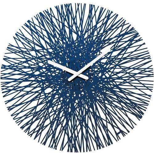 Koziol Zegar ścienny silk welwetowy błękit (4002942384367)