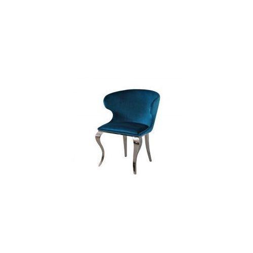 Krzesło glamour Victor Dark Blue - nowoczesne krzesło tapicerowane (5908273390659)