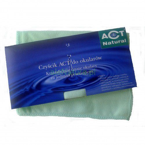 ściereczka czyścik do okularów zielony marki Act natural
