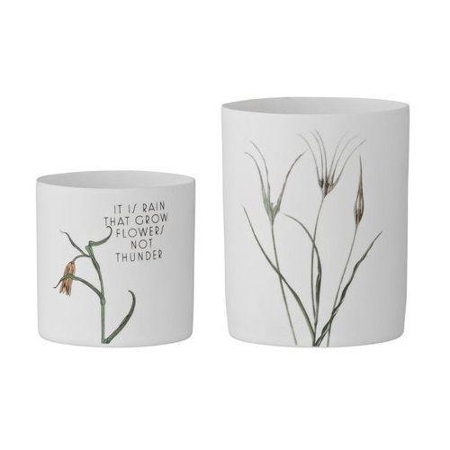 Świecznik na świece typu tealight flowers 2 szt. marki Bloomingville