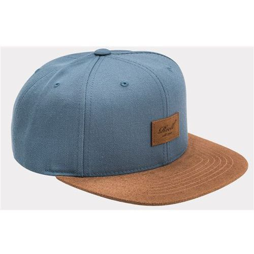 czapka z daszkiem REELL - Suede 6-Panel Blue Steel (BLUE STEEL), kolor niebieski