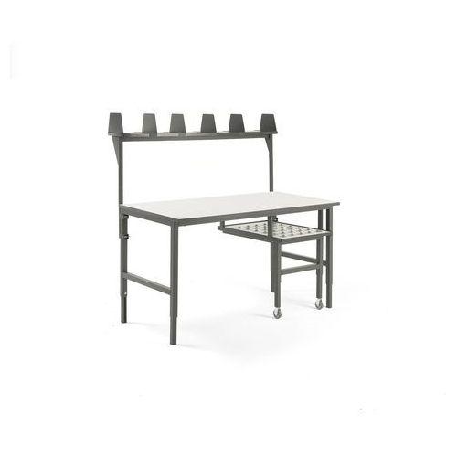 Stół roboczy cargo, z wysuwaną półką, 1600x750 mm, nadstawka marki Aj produkty