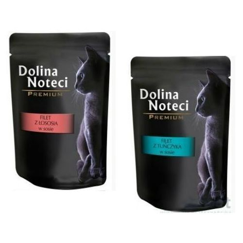 Dolina noteci  filety tuńczyk + łosoś  multipak 12x85g