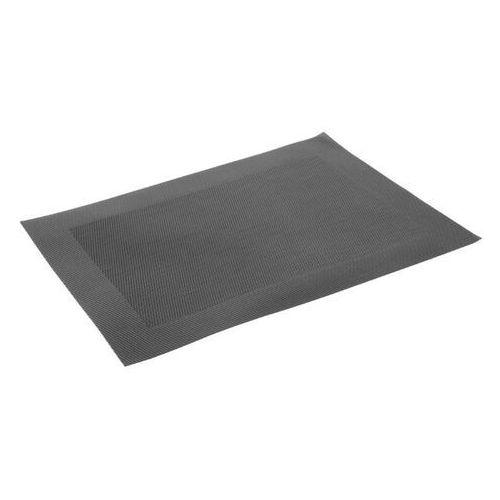 Tkana czarna mata stołowa z pvc (zestaw 4 sztuk) marki Olympia