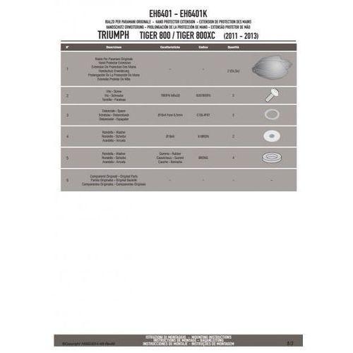 Kappa podwyższenie oryginalnych handbarów triumph tiger 800 / 800 xc / 800 xr (11-14)