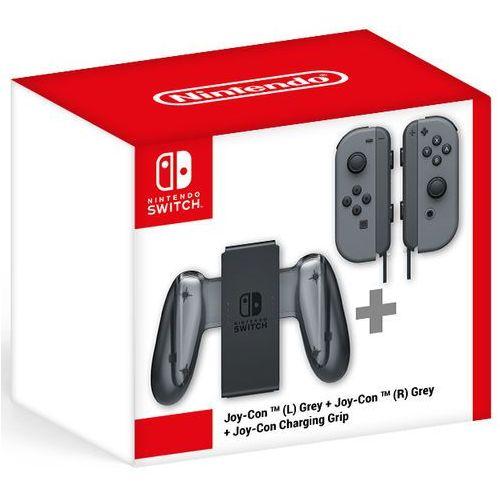 Nintendo Szare joy-cony (lewy i prawy) + charging grip (8595142715957)
