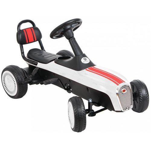 Kidzmotion Gokart na pedały kidz motion retro jeździk dla dzieci 3-8 lat biały + darmowy transport!