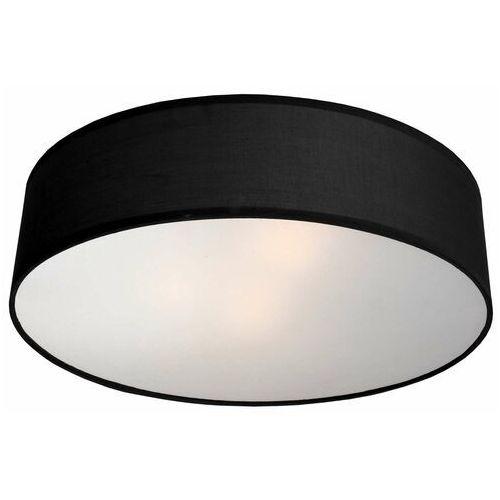 Light prestige Abażurowa lampa sufitowa alto lp-81008/3c bk plafon oprawa okrągła czarna (5907796366349)