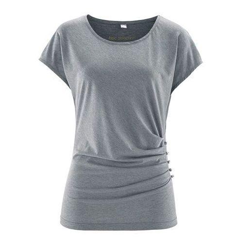 T-shirt z krótkim rękawem bonprix szary melanż