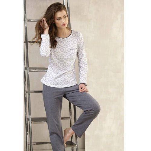 Piżama Cana 381 S-XL dł/r XL, biały-szary melange. Cana, L, M, XL, 1 rozmiar