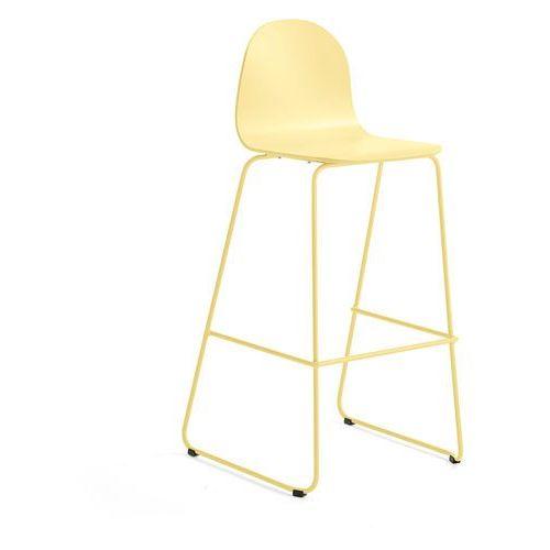 Aj produkty Krzesło barowe gander, płozy, siedzisko 790 mm, lakierowany, musztardowy