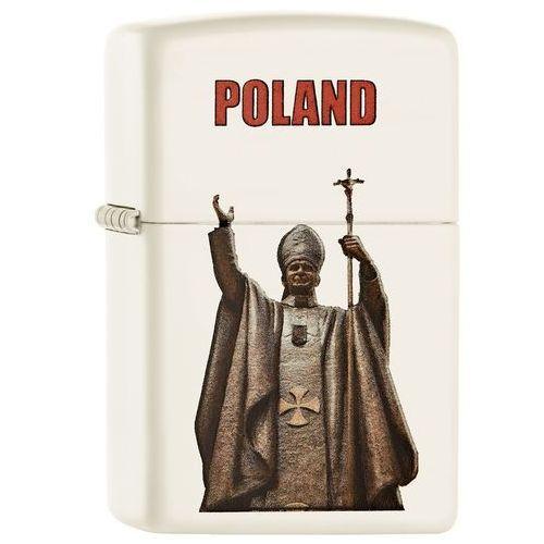Zapalniczka ZIPPO Polska - Jan Paweł II, White Matte (60002131) - produkt z kategorii- Zapalniczki