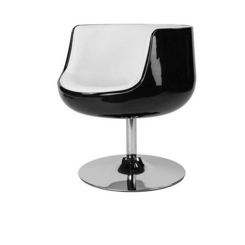Fotel Cognac K-czarny, S-białe (L) (5902385714136)