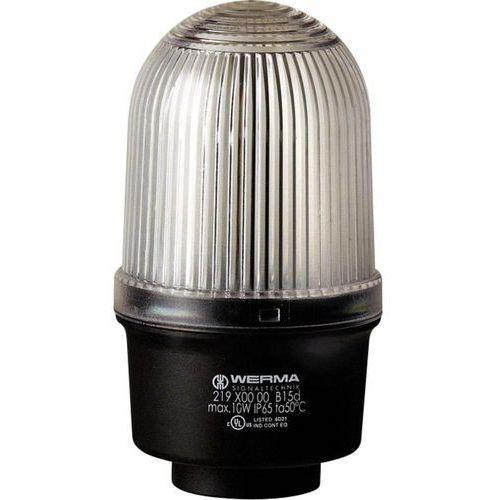 Sygnalizator świetlny Werma Signaltechnik 219.400.00, Światło ciągłe, IP65, biały (4016138413021)