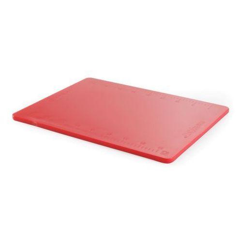 Deska z polietylenu czerwona HACCP z podziałką