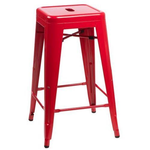 Stołek barowy Paris 66cm czerwony inspirowany Tolix, T_3a06b955-1620-4c19-97a5-03399f242742