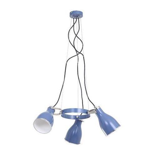 Lampa wisząca Luminex Bjorn Blue 9210 lampa sufitowa 3x60W E27 niebieska