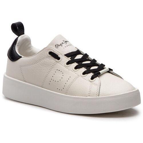 Sneakersy - brixton low pls30778 white 800, Pepe jeans