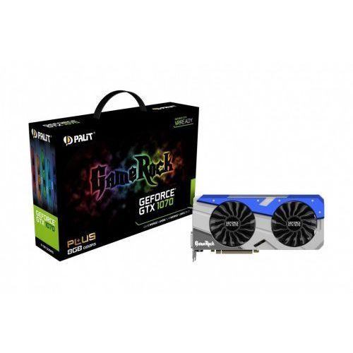 OKAZJA - Palit GeForce GTX 1070 Gamerock+ 8GB DDR5 256BIT DVI-D/3DP/HDMI, 1_592410