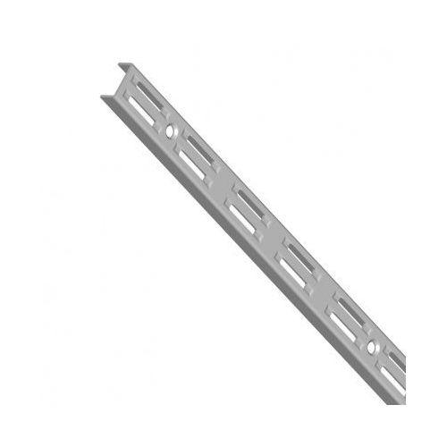 Pionowy profil z dwurzędową perforacją, 500 mm, szary