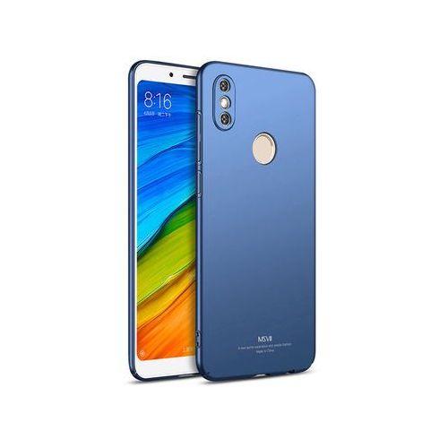 Etui MSVII Thin Case Xiaomi Redmi Note 5 niebieskie - Niebieski, kolor niebieski