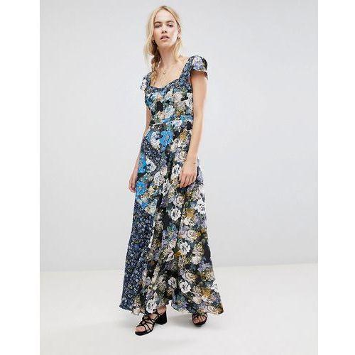 la fleur mixed floral print maxi dress - blue, Free people