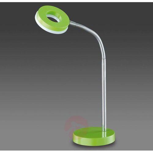 Reality lampka biurkowa led chrom, zielony, 1-punktowy - nowoczesny/lokum dla młodych/wesoły, śmieszny - obszar wewnętrzny - reality - czas dostawy: od 4-8 dni roboczych (4017807268829)