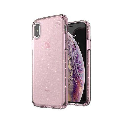 Speck Presidio Clear With Glitter Etui Brokatowe iPhone Xs / X (Gold Glitter/Bella Pink)