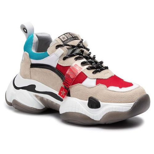 Big star Sneakersy - ff274428 beige/red/turqoise