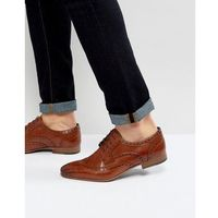 city leather brogue shoes - tan, Walk london