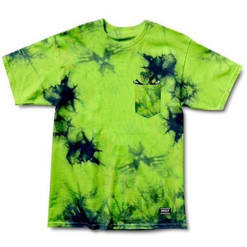 Grizzly Koszulka - grizzly x hulk pocket electric tie-dye (electric t-d) rozmiar: l