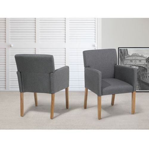 Krzesło do jadalni, kuchni szare - fotel tapicerowany - ROCKEFELLER z kategorii Krzesła