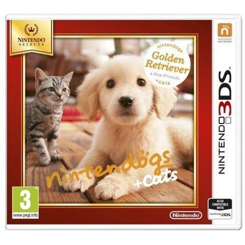 Gra  nintendogs + cats golden retriever & new friends select 3ds 2ds marki Nintendo
