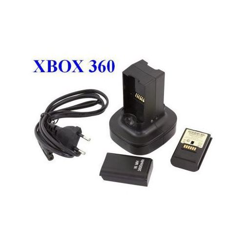 Stacja Dokująca / Ładująca Baterie Padów Xbox 360 + 2 Zapasowe Akumulatorki.