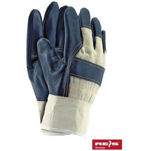 R.e.i.s. Rękawice robocze wzmacniane skórą licową rl rozmiar 10