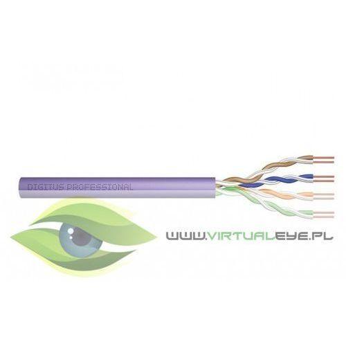 Digitus kabel teleinformatyczny, instalacyjny, u/utp kat.6, drut, miedziany, pvc, 305m, fioletowy (4016032331803)
