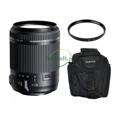 Tamron Obiektyw 18-200 vc + filtr uv 62 mm + torba tamron colt do canon
