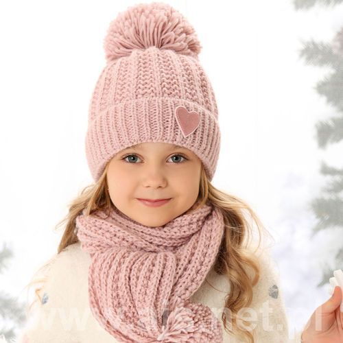 Komplet 38-493 czapka+szalik rozmiar: uniwersalny, kolor: wielokolorowy, ajs marki Ajs