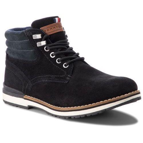 Trapery - outdoor suede boot fm0fm01748 black 990 marki Tommy hilfiger