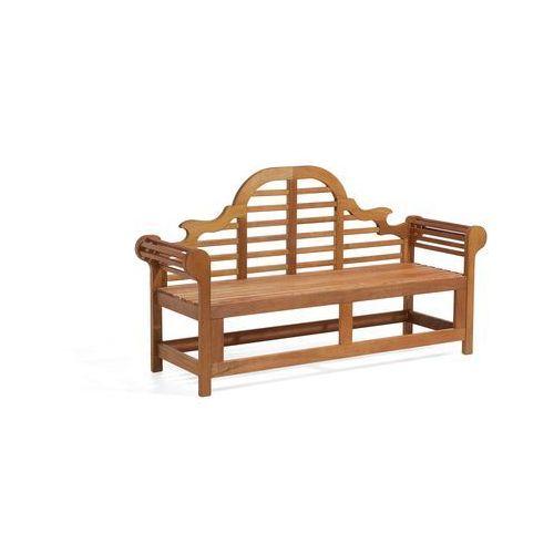 Beliani Drewniana ławka ogrodowa 180 cm java marlboro