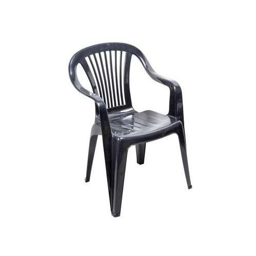 Ołer garden Krzesło ogrodowe beryl plastikowe antracytowe
