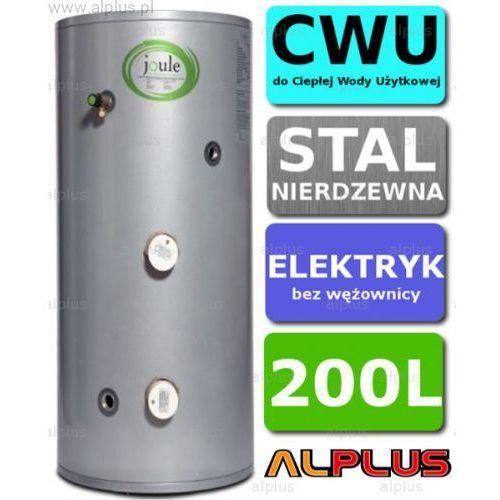 Bojler elektryczny 200L JOULE CYCLONE DIRECT nierdzewka grzałka 2x3kW podgrzewacz CWU bez wężownicy Wysyłka gratis!