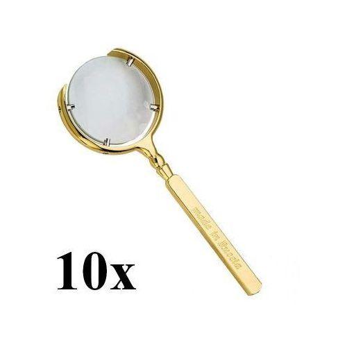 Profesjonalna Metalowa Rosyjska Lupa RETRO (złota lub srebrna) - Powiększenie Max 10x!!, 5907654905157