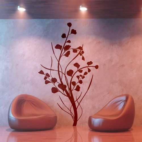 Indywidualna naklejka drzewo 1294 - 84x160 cm kolor brązowy 080