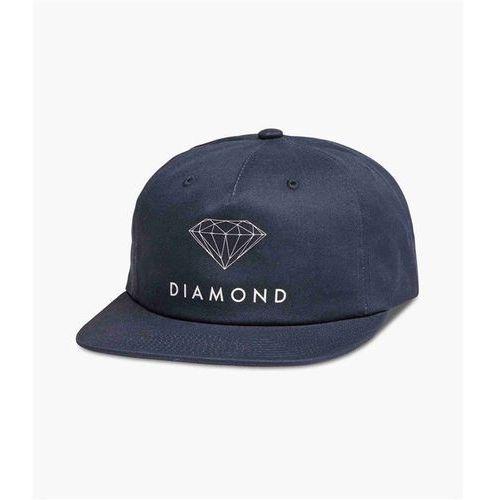 czapka z daszkiem DIAMOND - Futura Sign Unconstructed Snbk Navy (NVY) rozmiar: OS, kolor niebieski
